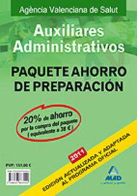 Auxiliares administrativos, agencia valenciana de salud