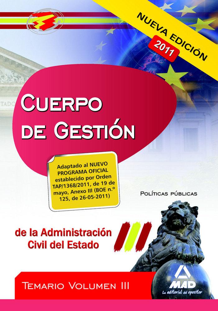 Acuerpo de gestion de la administracion del estado iii