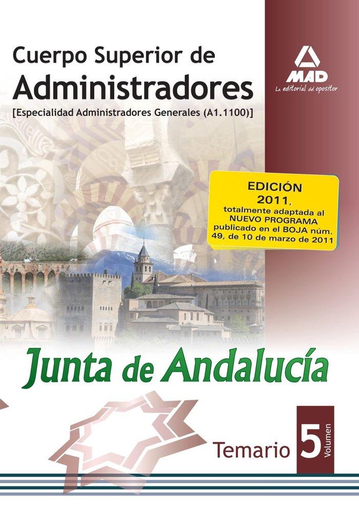 Cuerpo sup. administradores junta de andalucia v general