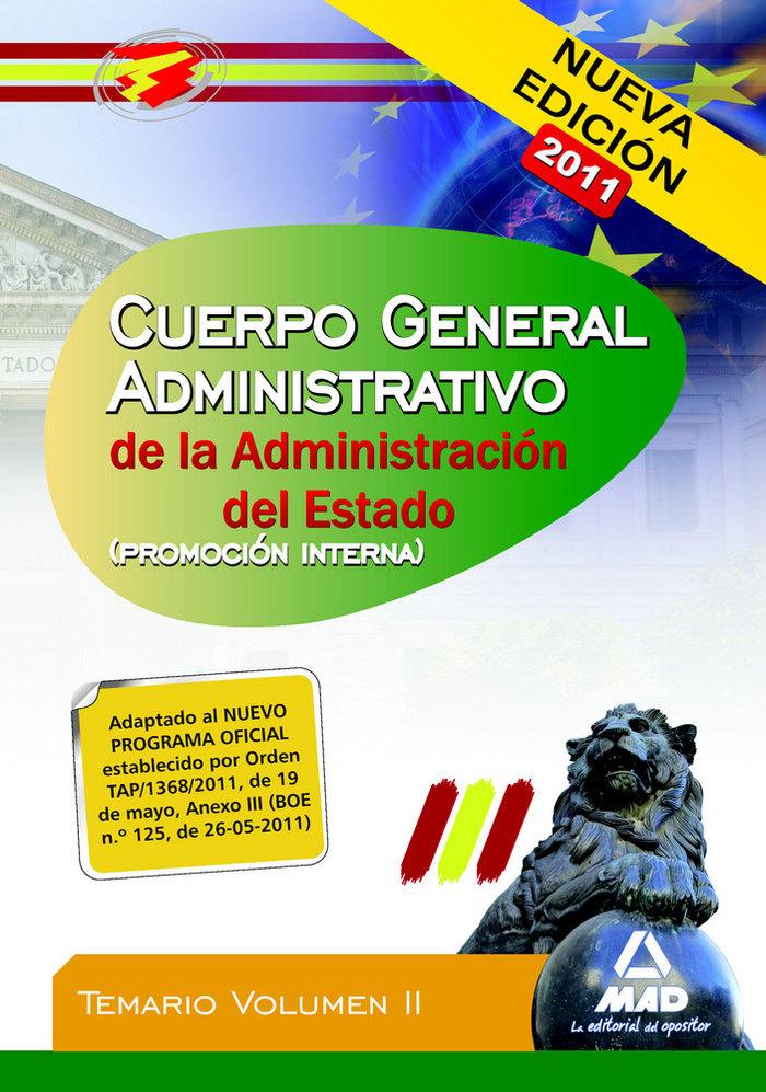 Cuerpo administrativo admi. estado v ii p. interna
