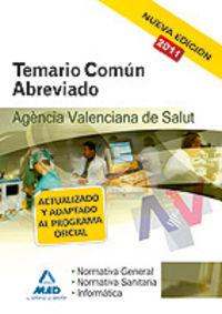 Agencia valenciana de salud. temario comun abreviado