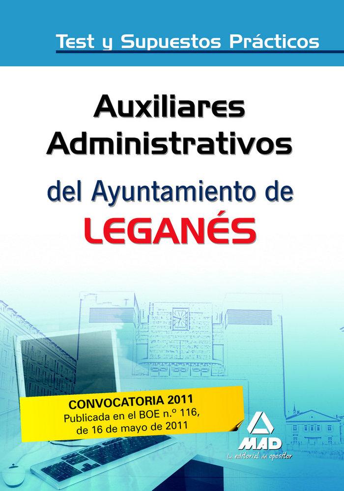 Auxiliares administrativos, ayuntamiento de leganes. test y