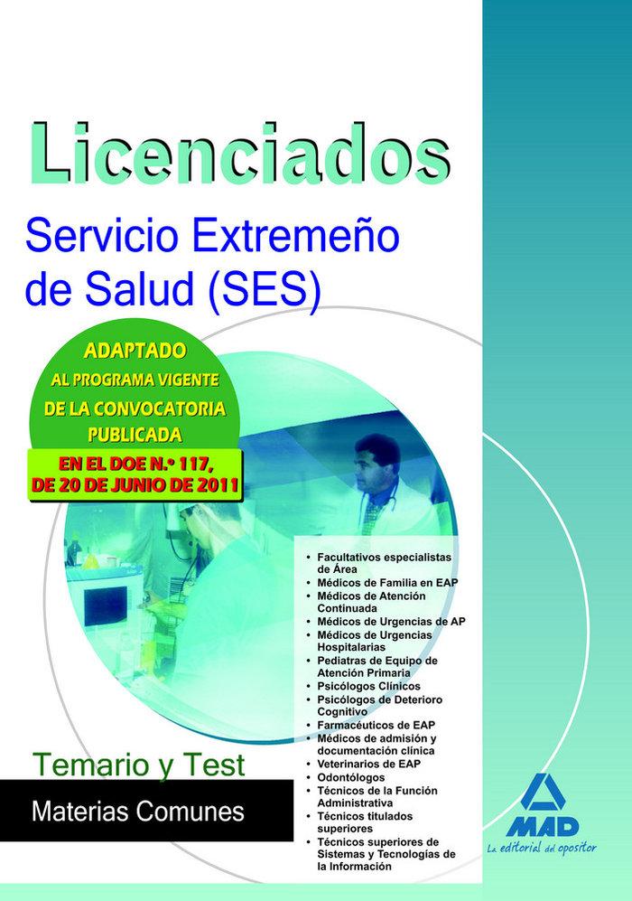 Licenciados ses 2011 temario test materias comunes