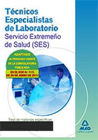 Tecnicos laboratorio ses test materias especificas