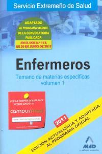 Enfermeros i 2011 temario materias especificas