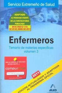 Enfermeros iii 2011 temario materias especificas