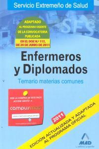 Enfermeros y diplomados temario materias comunes 2011