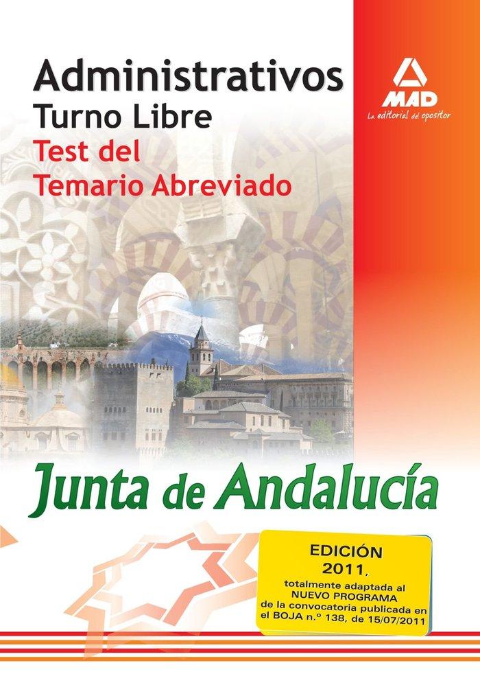Administrativos junta and.turno libre test temario abreviado