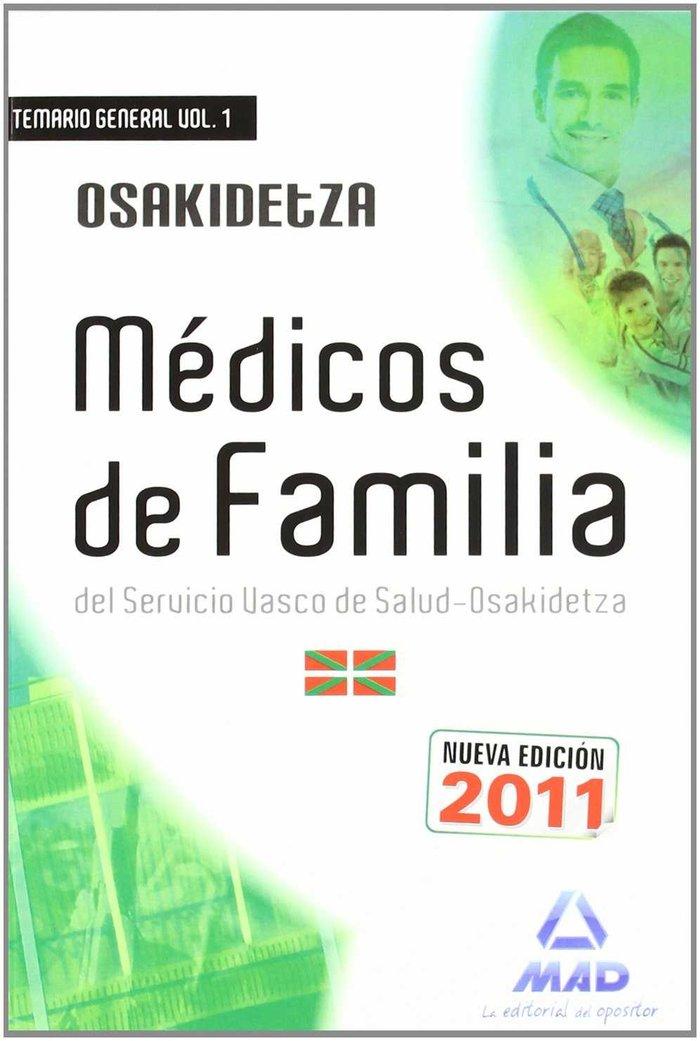 Medicos de familia (facultativos medicos y tecnicos), servic