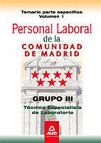Personal laboral de la comunidad de madrid. grupo iii. tecni