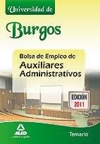 Auxiliares administrativos, bolsa de empleo, universidad de