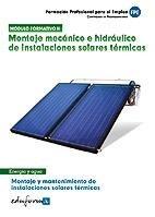 Montaje mecanico e hidraulico instalaciones solares termicas