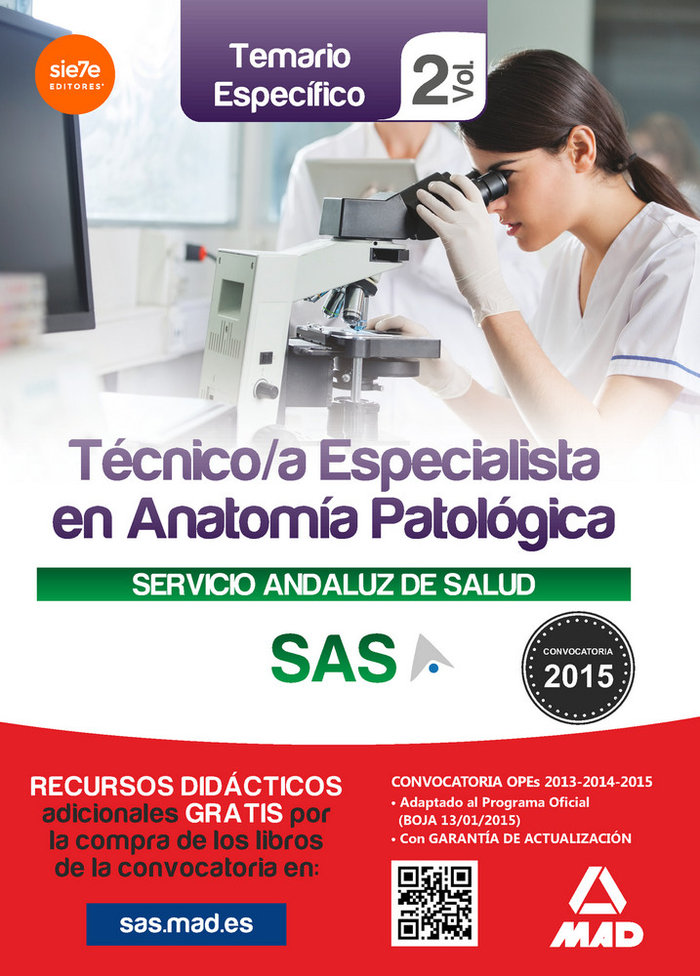 Tecnico/a especialista anatomia patologica sas vol 2