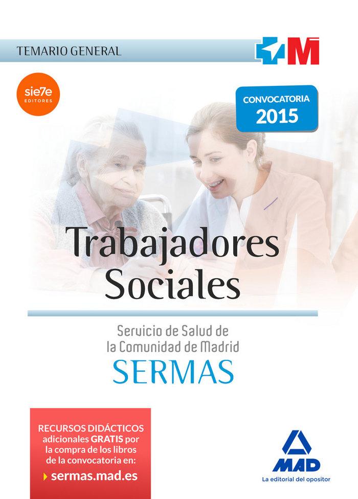 Trabajadores sociales del servicio madrileño salud temario