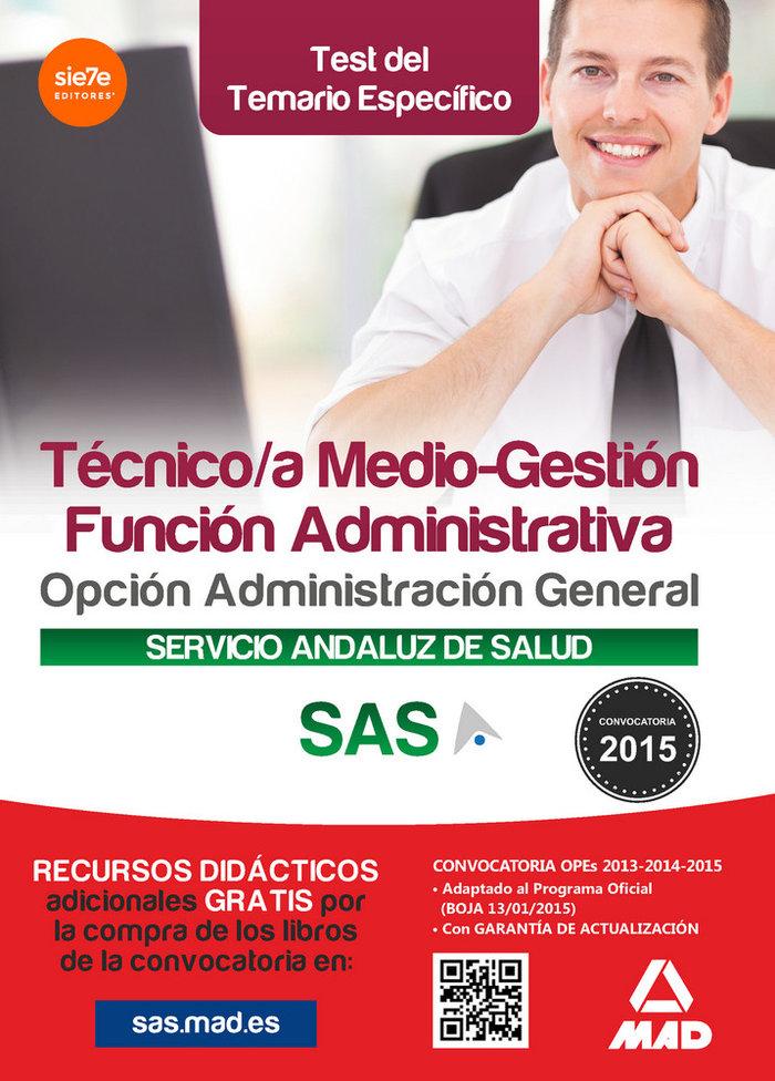Tecnico medio gestion funcion administrativa sas test espec