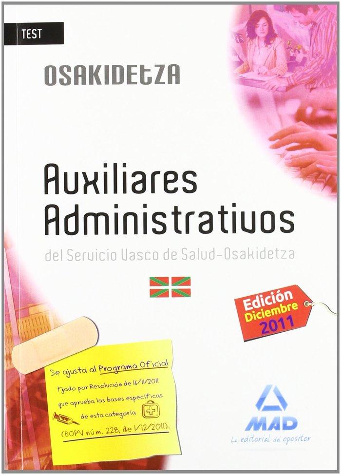 Auxiliares administrativos, servicio vasco de salud-osakide