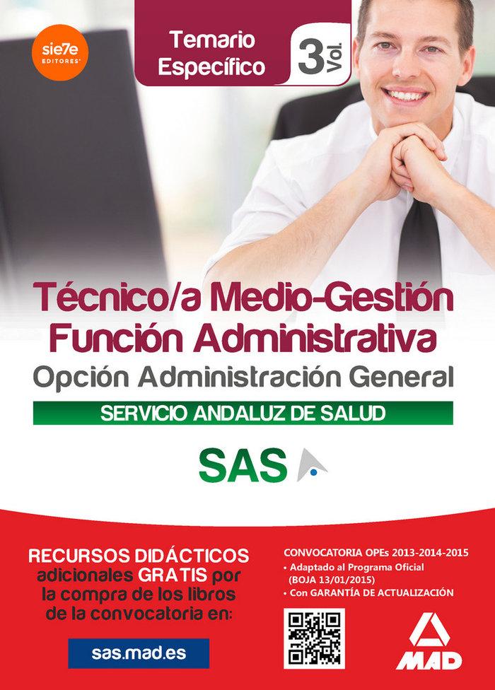 Tecnico medio gestion funcion administrativa sas vol 3