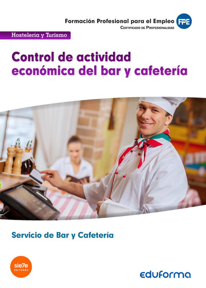 Control de actividad economica de bar y cafeteria. certifica
