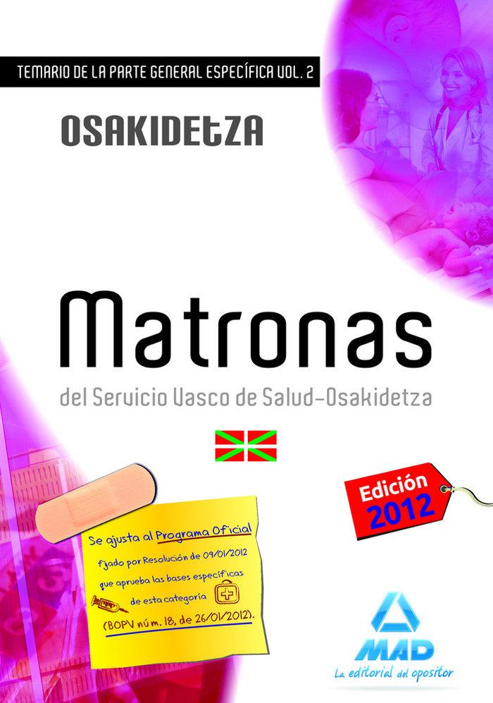 Matronas temario parte general especifica 2 osakidetza