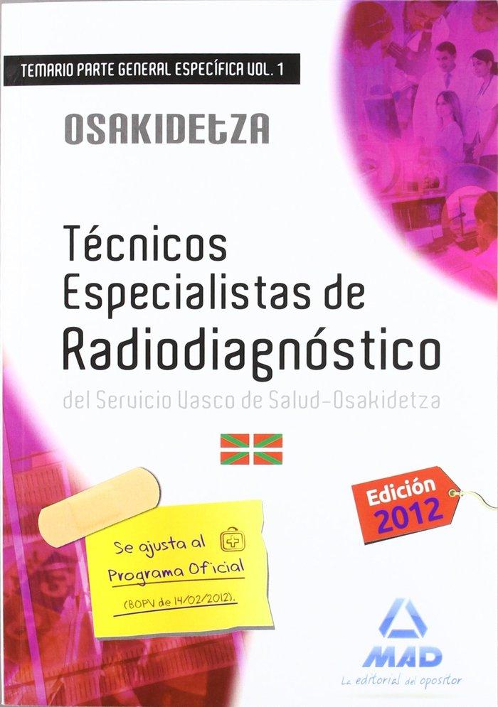 Tecnicos especialistas de radiodiagnostico, servicio vasco d