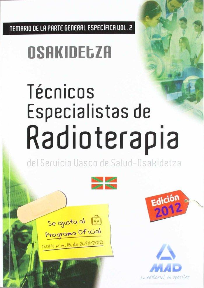 Tecnicos especialistas de radioterapia, servicio vasco de sa