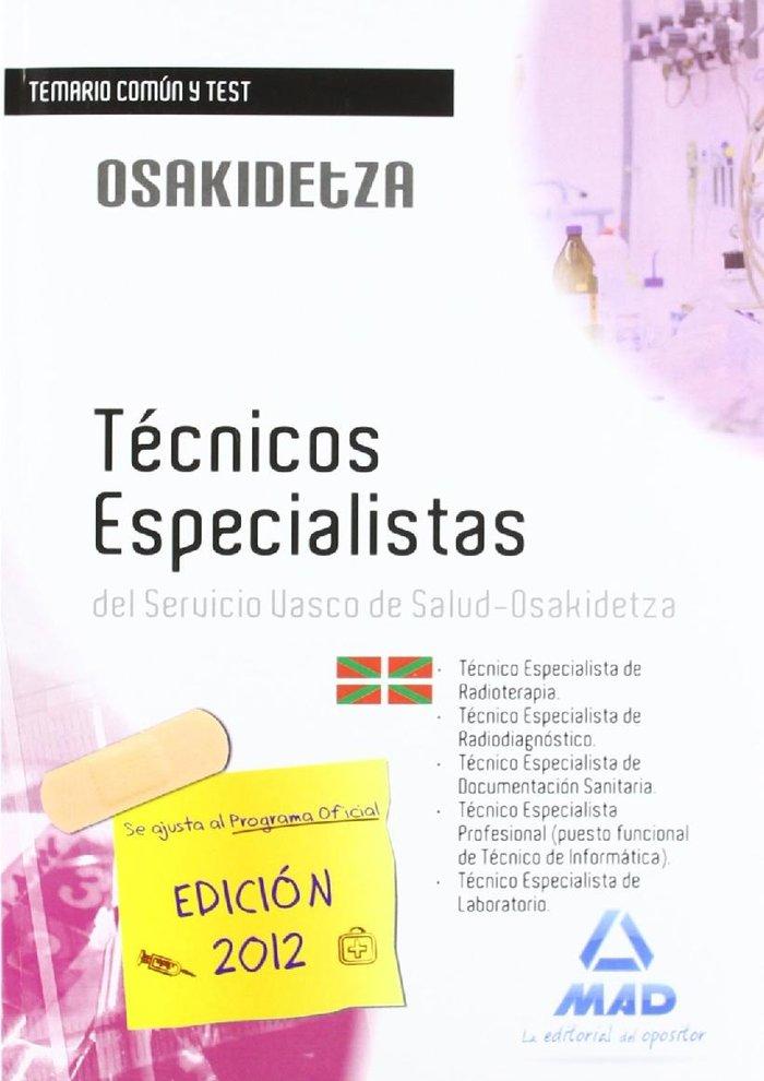Tecnicos especialistas, servicio vasco de salud-osakidetza.