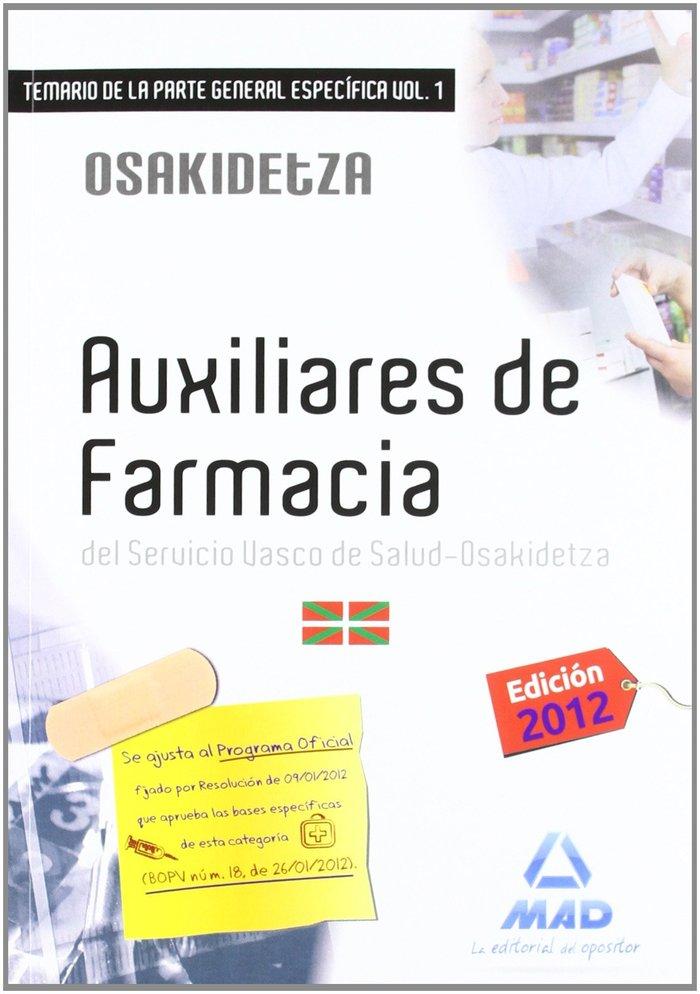 Auxiliares de farmacia servicio vasco de