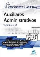 Auxiliares administrativos de corporaciones locales. temari
