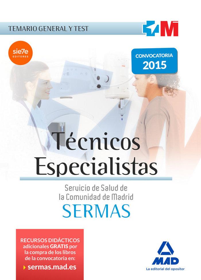 Tecnicos especialistas del servicio de salud de la comunida