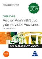 Cuerpo de auxiliar administrativo y de servicios auxiliares