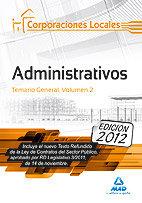 Corporaciones locales adminis vol ii temario general 2012