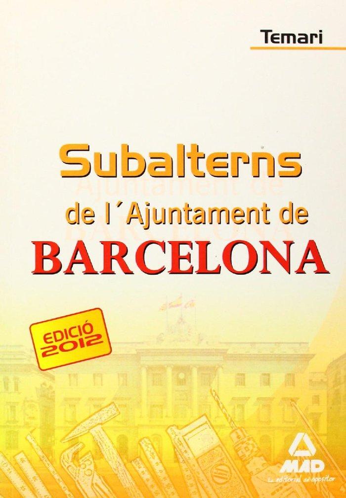 Subalterns, ajuntament de barcelona. temari