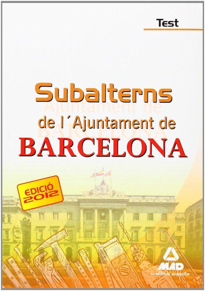 Subalterns, ajuntament de barcelona. test