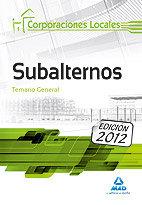 Subalternos, corporaciones locales. temario general