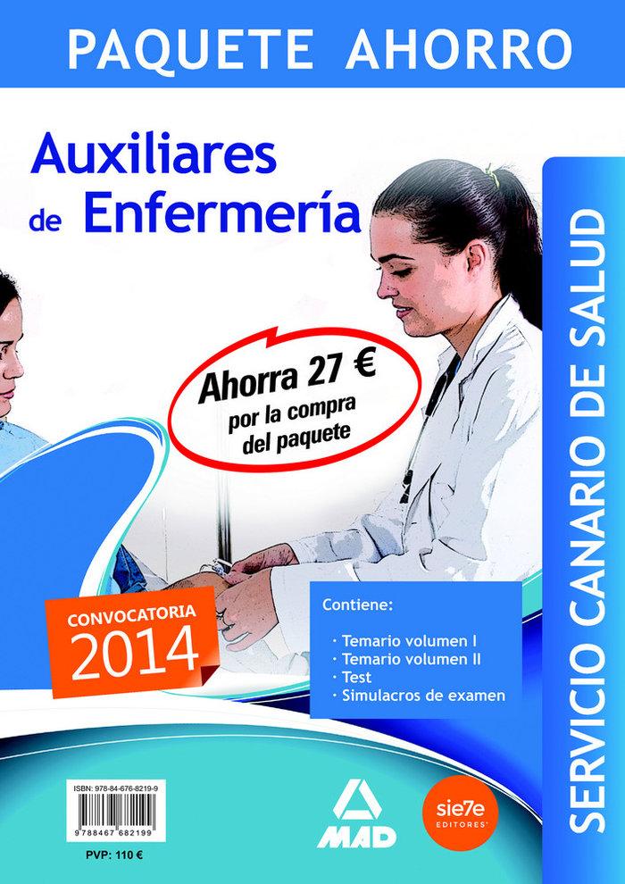 Pack auxiliar enfermeria servicio canario de salud