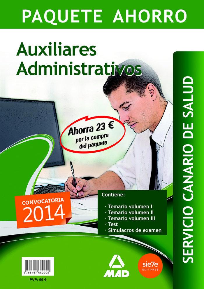 Paquete ahorro auxiliar administrativo servicio canario de s