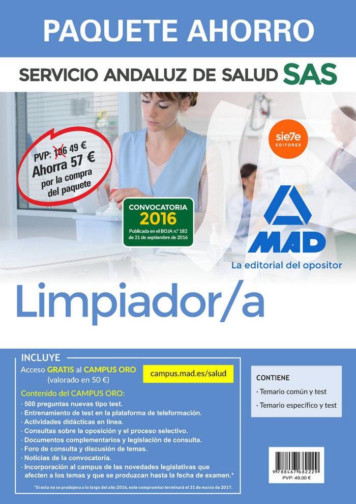 Pack limpiador servicio andaluz de salud