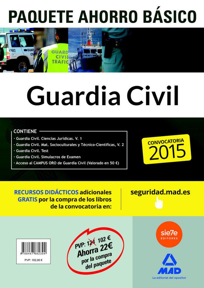 Pack guardia civil basico 2015 4 libros