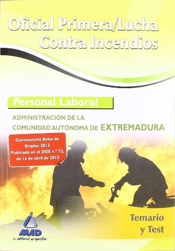 Oficial primera lucha contra incendios