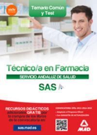 Tecnico en farmacia servicio andaluz salud temario y test