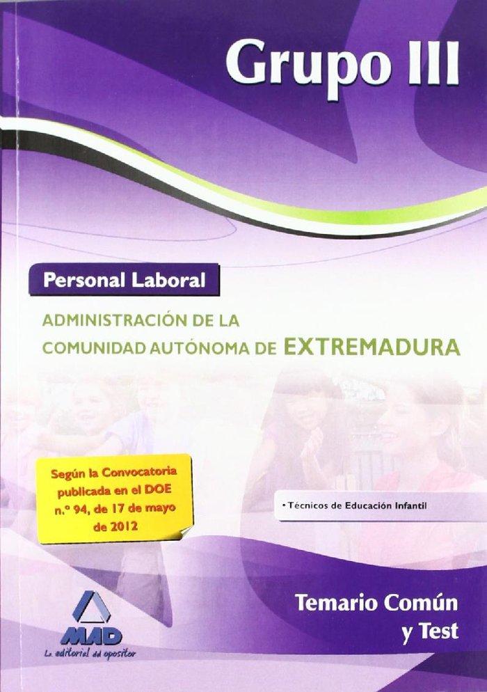 Personal laboral grupo iii 2012 temario comun y test