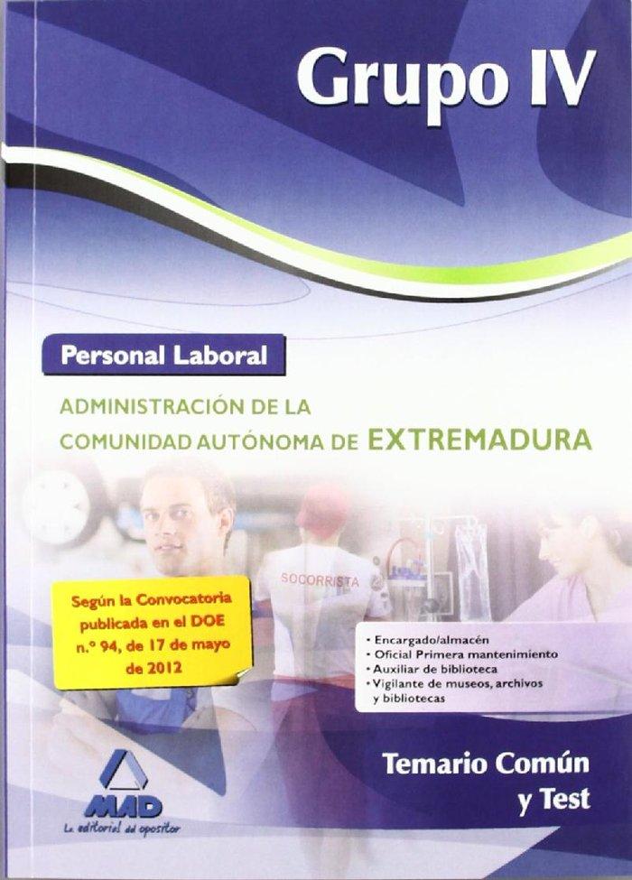 Personal laboral grupo iv 2012 temario comun y test