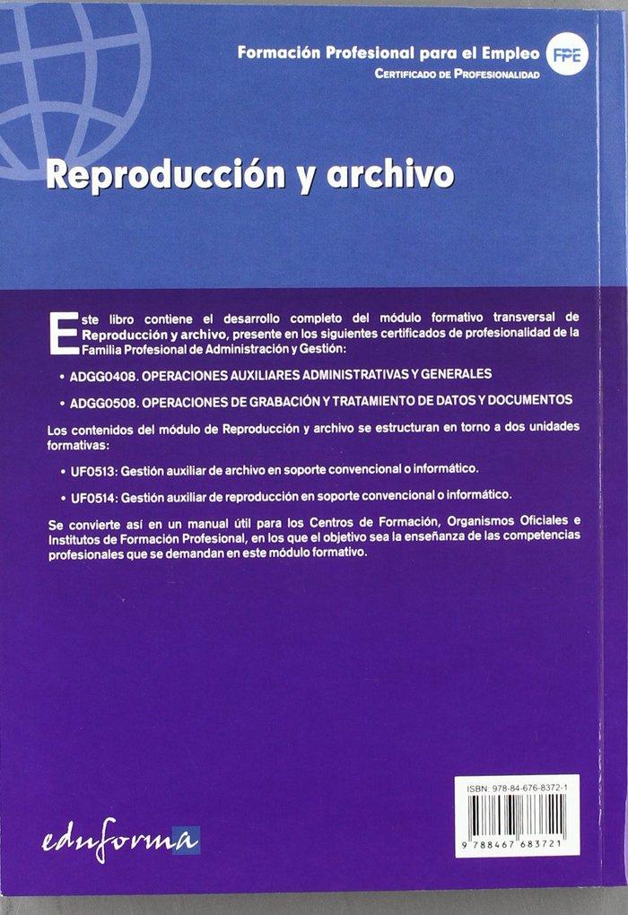 Reproduccion y archivo