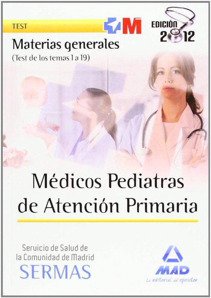 Medicos pediatras, atencion primaria, servicio de salud de l