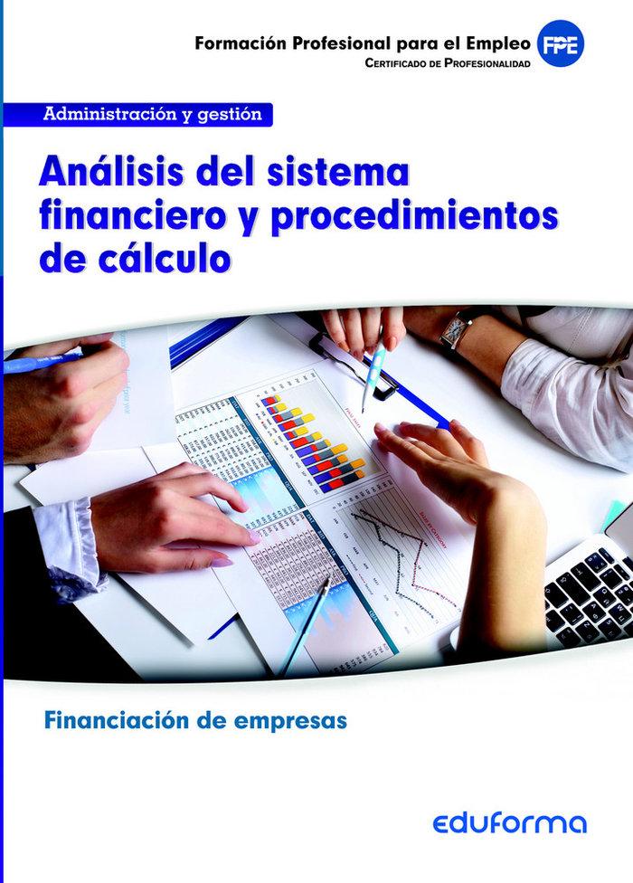 Analisis sistema financiero procedimiento de calculo