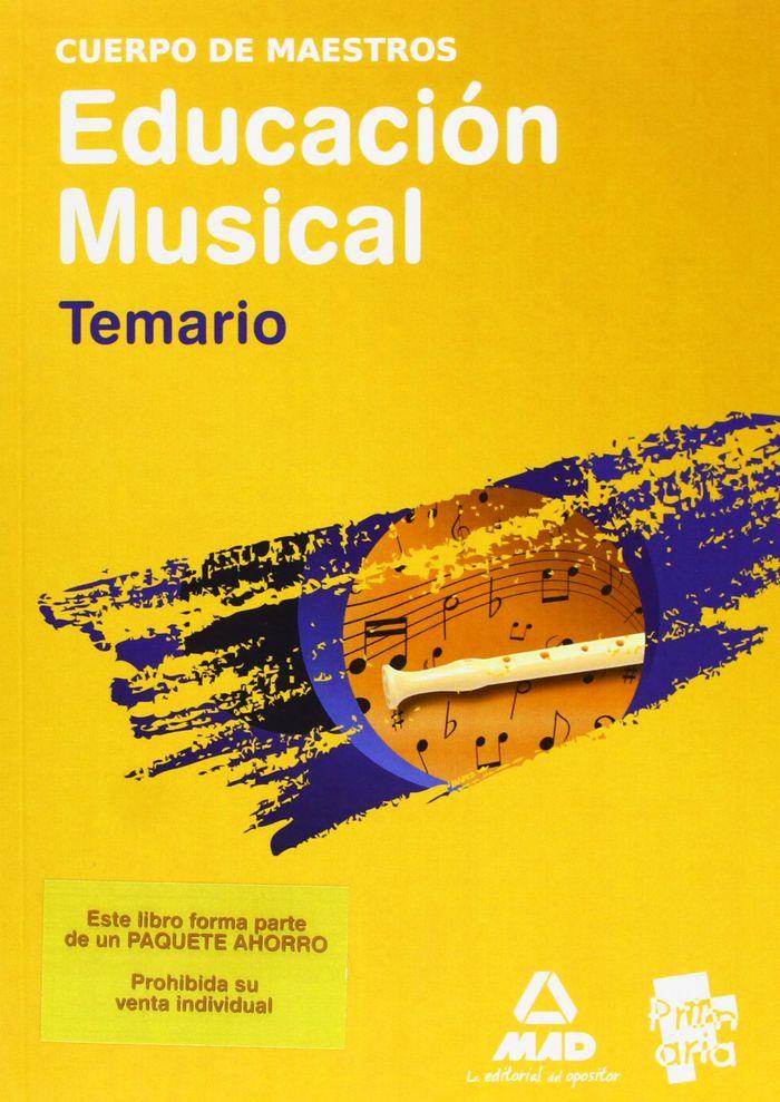 Paquete ahorro  maestros musical (temario + programacion + v