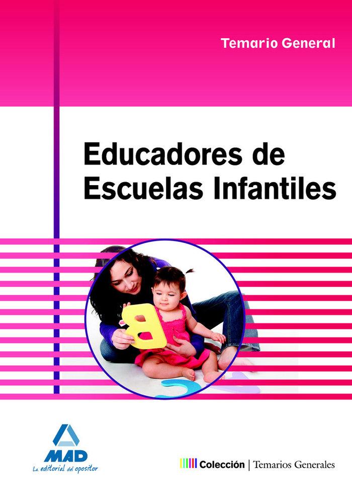 Educadores de escuelas infantiles temario general