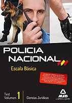 Escala basica policia nacional test ciencias juridicas 2013