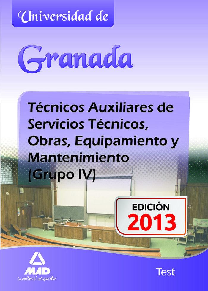 Tecnicos auxiliares mantenimiento universidad de granada