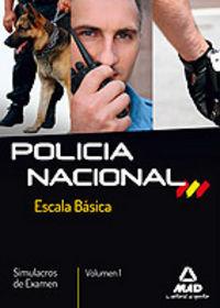 Policia nacional escala basica 1 simulacros examen